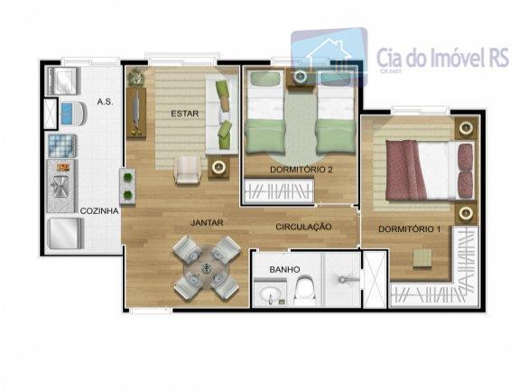 prédio novopronto para morar.apartamento novo (nunca habitado) no 12º andar (último andar), 2 dormitórios, cozinha americana...