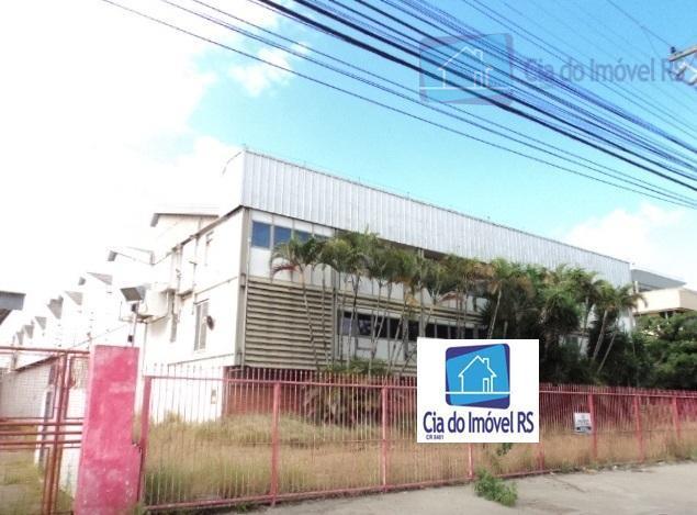 Galpão comercial para locação, São João, Porto Alegre - GA0130.