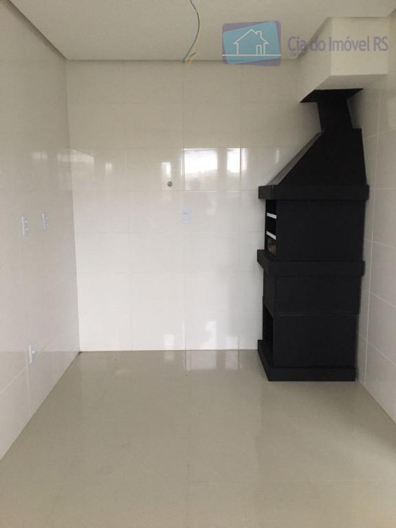 excelente apartamento com 02 dormitórios,novo ,sala ampla com terraço,churrasqueira,lareira,cozinha,banheiro e área de serviços,02 vagas de garagem...