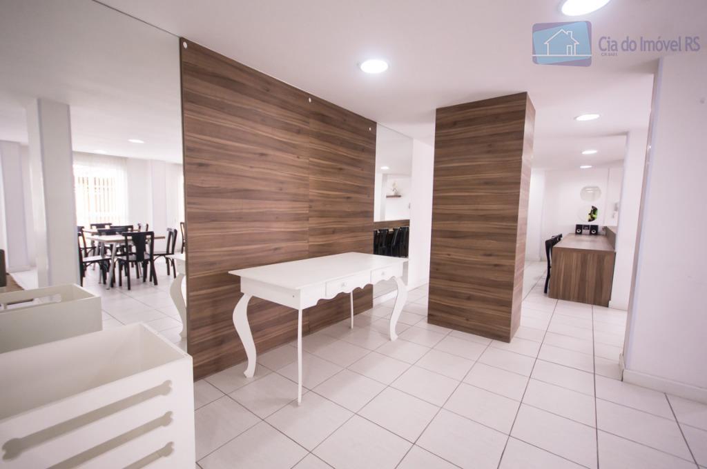 apartamento impecável de 2 dormitórios, novo e com ótima posição solar. localizado em prédio com salão...