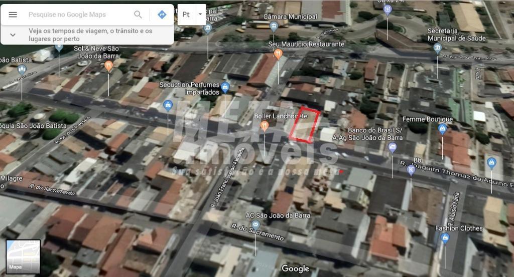 terreno para locação comercial no centro de são joão da barra, rua joaquim thomaz de aquino...
