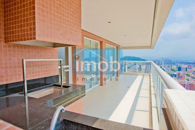 Cobertura residencial à venda, Gonzaga, Santos.