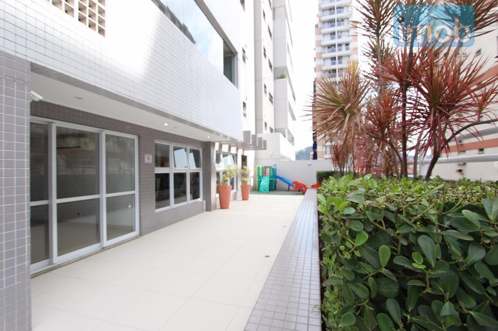 """""""gonzaga - porteira fechada"""" excelente apartamento totalmente mobiliado e equipado com ar-condicionado split.imóvel composto com 2..."""