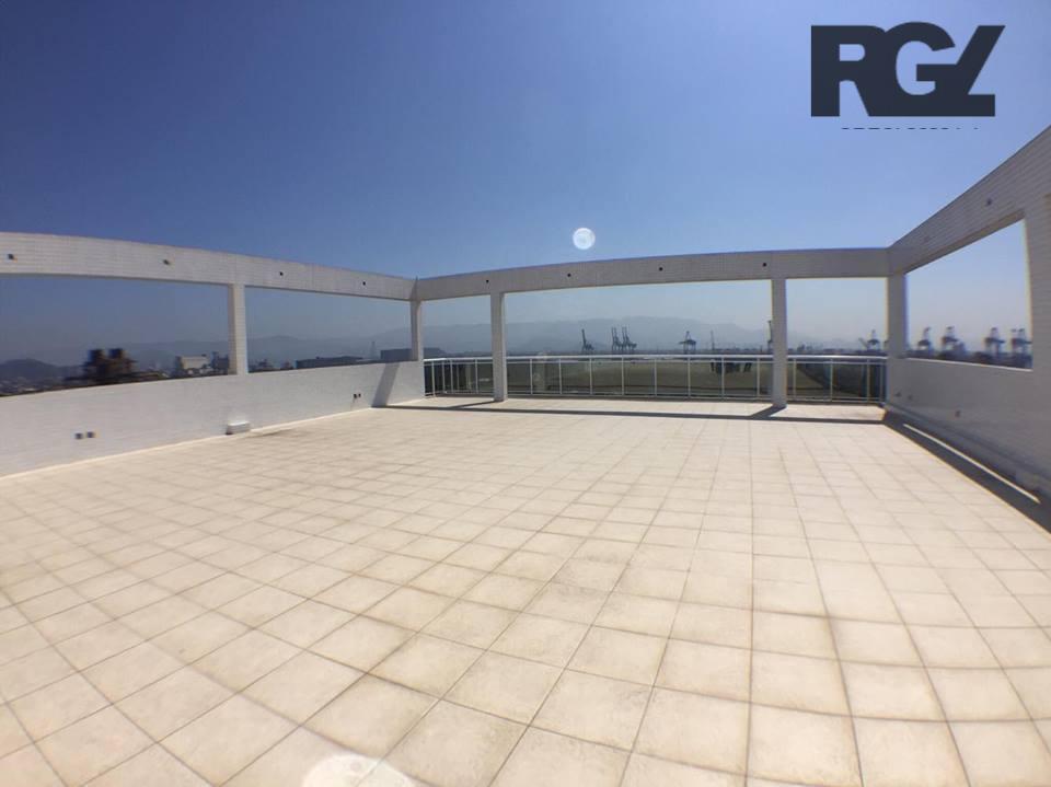 Laje  Rooffop comercial para venda e locação, Aparecida, Santos.