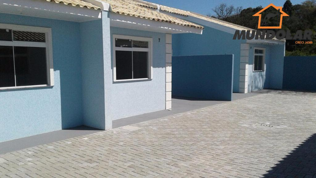 excelente casa residencial em contenda.contendo:* 2 quartos;* sala;* cozinha;* banheiro;* lavanderia;* garagem;* rede de esgoto;* vidros...