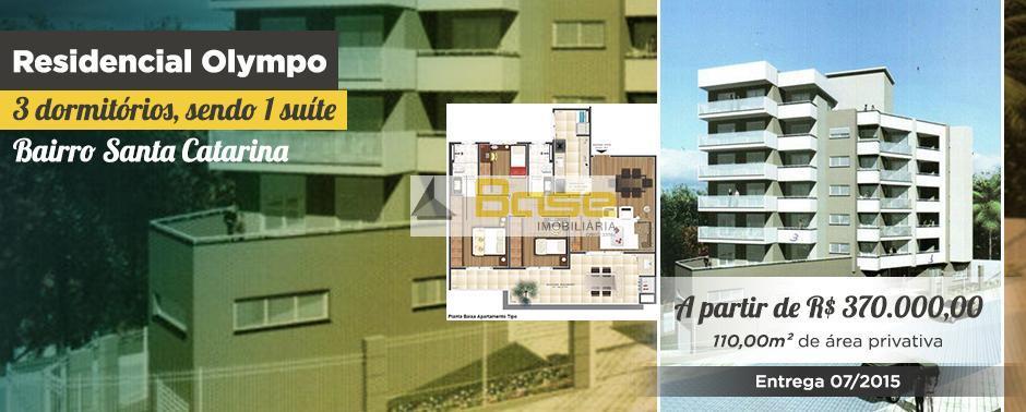 Olympo, Apartamento residencial à venda, Santa Catarina, Caxias do Sul, Base Imobiliária.