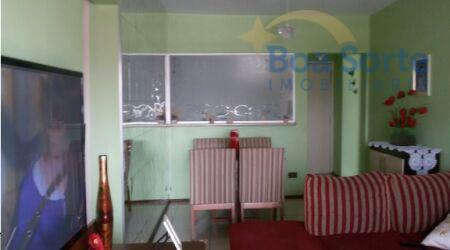 lindo apartamento de 55 m² com dois dormitórios, sala com dois ambientes, um banheiro, cozinha com...