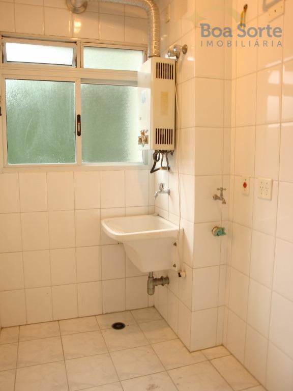 ótimo apartamento de 56 m² com dois dormitórios, sala com varanda, dois banheiros, cozinha e área...