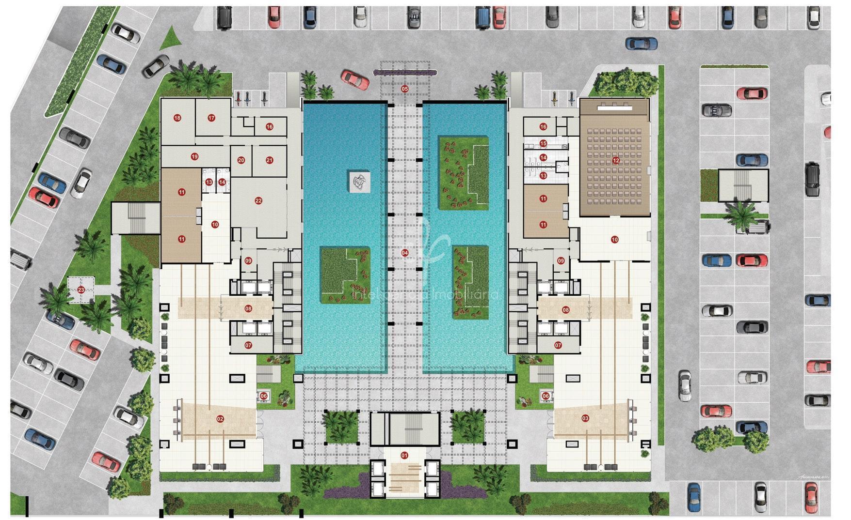 o complexo parkshopping corporate é um conjunto arquitetônico constituído por 2 (duas) torres de escritórios interligadas...