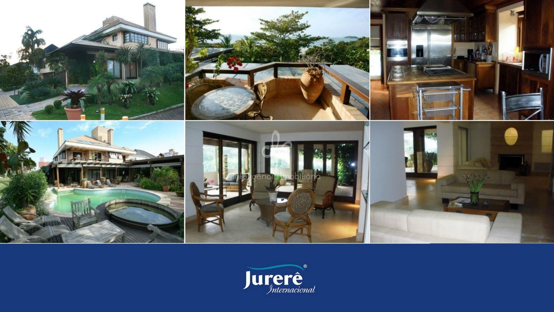 Casa espetacular frente mar à venda em Jurerê Internacional, Florianópolis.