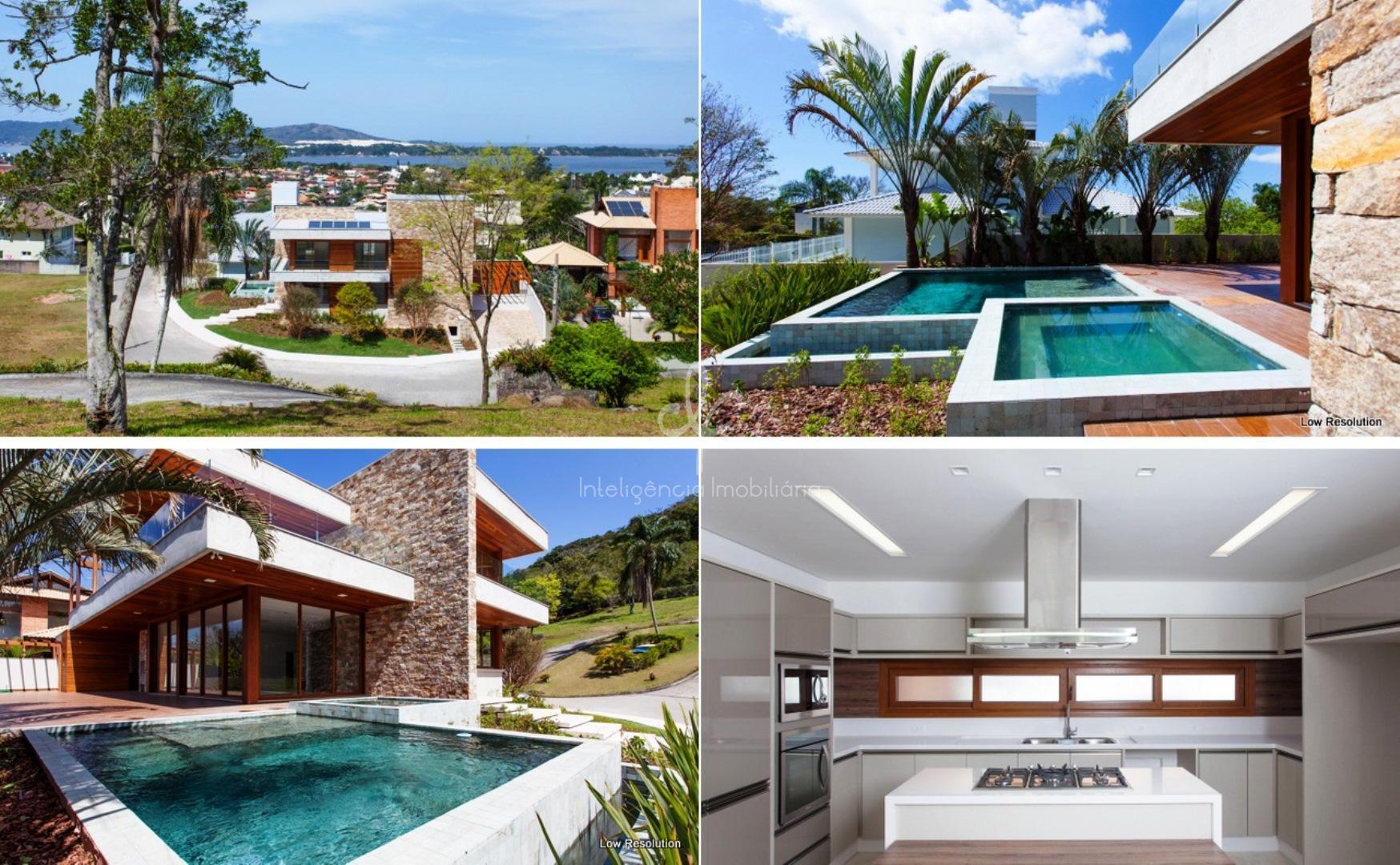 Linda casa com vista e 3 suites à venda na Lagoa da Conceição, Florianópolis.