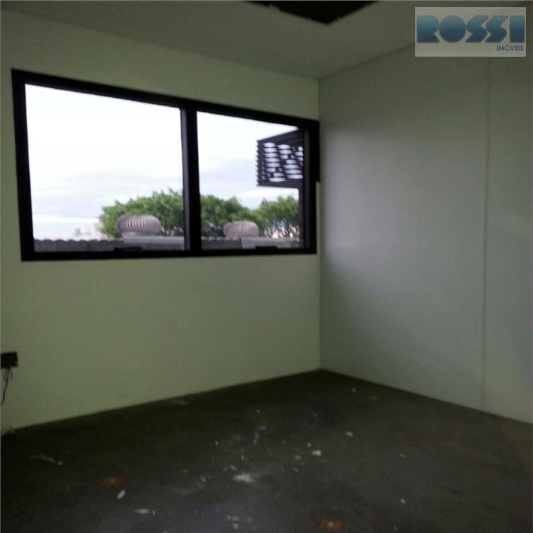 sala comercial para locação na rua do oratório - 02 wc e 01 vaga.excelente localização.edificio moderno.
