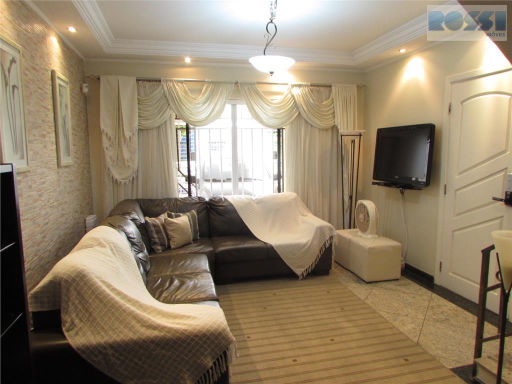 ótimo sobrado.3 dormitórios, sendo suítes com armários. 4 wcs.lavabo.hall.sala 2 ambientes.cozinha planejada. lavanderia.2 vagas. terraço amplo.quintal...