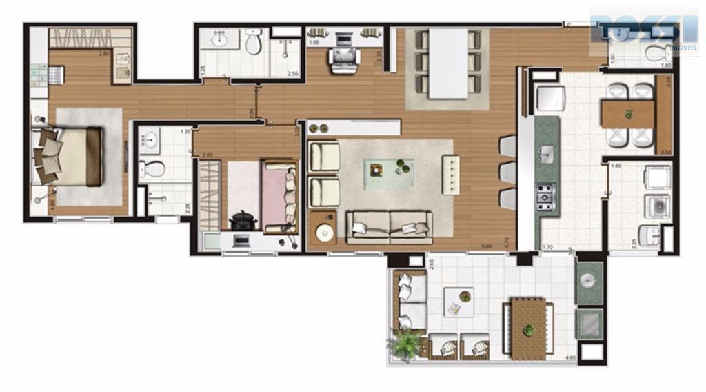 Apartamento de 2 dormitórios à venda em Mooca, São Paulo - SP