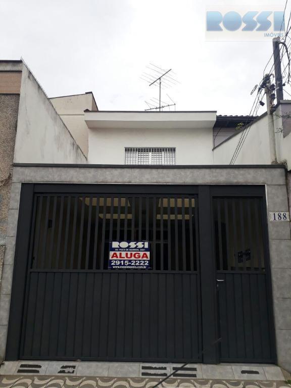 Sobrado residencial para locação, Alto da Mooca, São Paulo.