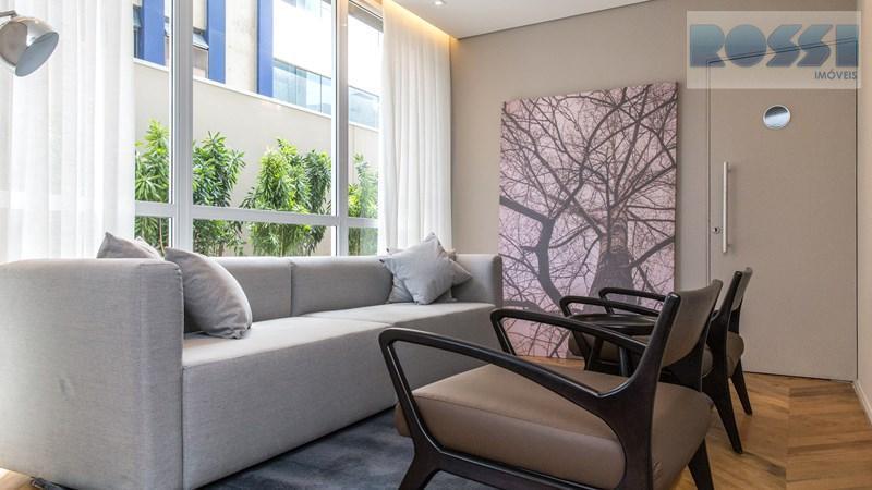 apartamento novo para locação na rua girassol , vila madalena. lazer completo.1 suite, 1 vaga, sala...