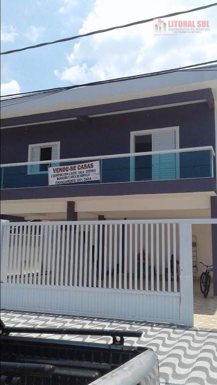 Casa de 02 dormitórios sendo 01 suíte, 01 banheiro, sala com varanda, lavanderia, cozinha americana, 01 vaga de garagem. Aceita