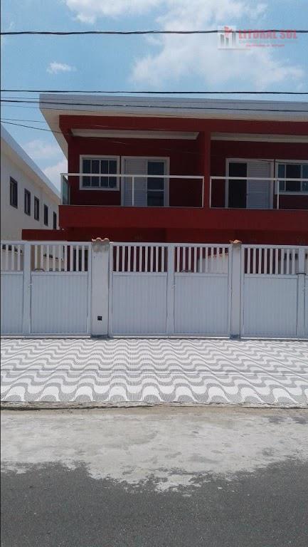Casa no Tude Bastos sobrepostas com entrada individual sendo: 03 dormitórios, 01 suíte, 01 banheiro, 01 sala, 01 cozinha, 01 lav