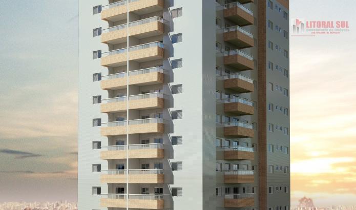 Apartamento  02 dormitorios Canto do Forte: Piscina adulto com borda infinita, piscina infantil, salão de festas com discoteca,