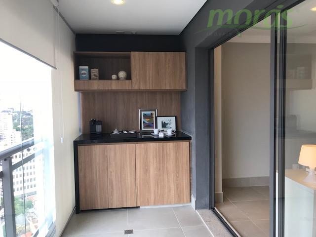 Apartamento com 1 dormitório para alugar, 40 m² por R$ 3.650/mês - Vila Madalena - São Paulo/SP