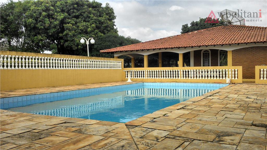 maravilhosa chácara em terreno de 1.650 m², com 324 m² de ac, plana, com piscina 5x10...