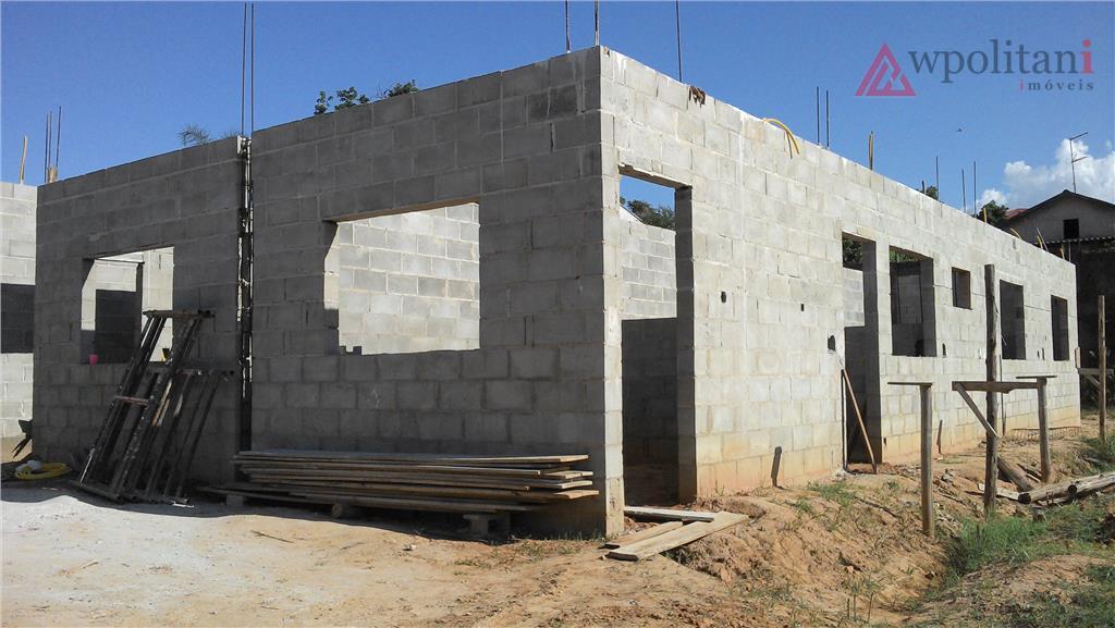 casa nova com 69 m² em terreno de 150 m² com 2 quartos, sala, cozinha, banheiro,...