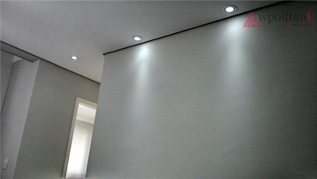 apto novo, moderno e atual, com 2 dorm. pq. asteca, completo em armários planejados, gesso, iluminação,...