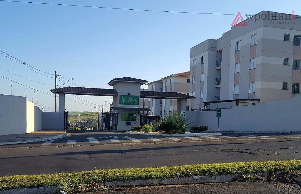 Apartamento térreo com terraço/jardim à venda, Jd. das Laranjeiras, Santa Bárbara D'Oeste.