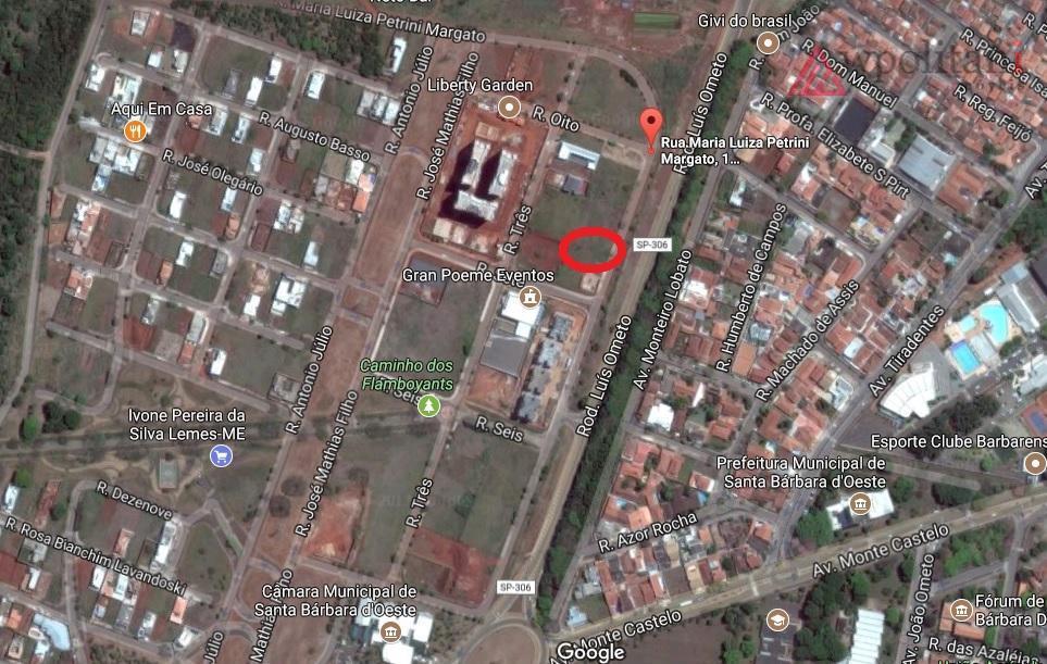 Terreno comercial à venda, Residencial Dona Margarida, Santa Bárbara D'Oeste.
