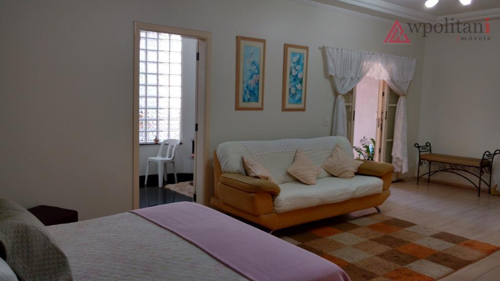 residencial furlan - linda casa térrea em terreno duplo, ótima localização na parte alta do bairro,...