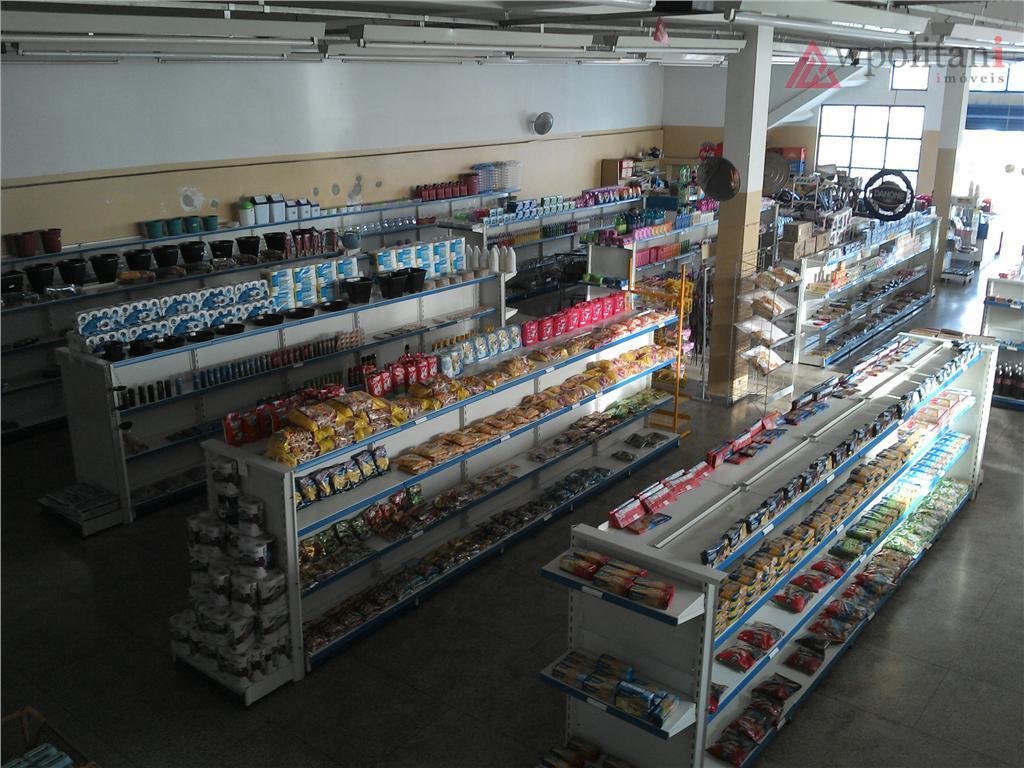 vendo supermercado - 530 m² de área de venda, mezanino de 140 m², totalmente equipada com...