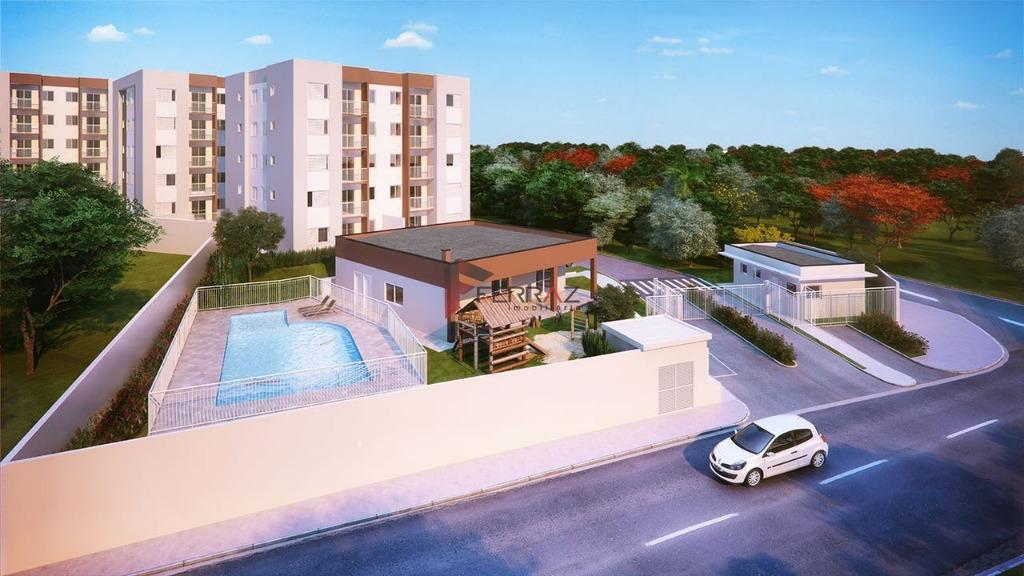 Apartamento residencial à venda, Cipó, Embu-Guaçu.