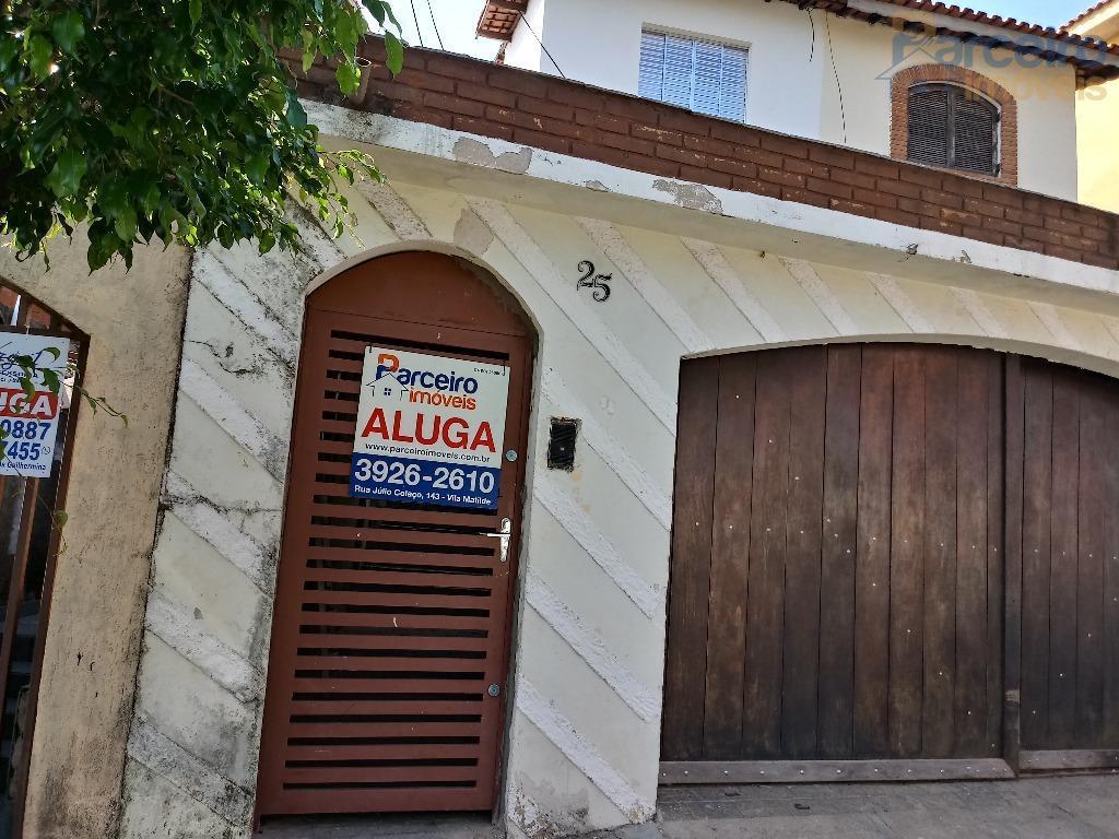 Sobrado residencial para locação, Vila Guilhermina, São Paulo.