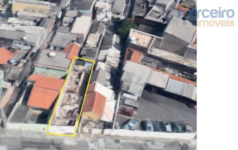 Terreno à venda, 168 m² por R$ 405.000 - Chácara Belenzinho - São Paulo/SP