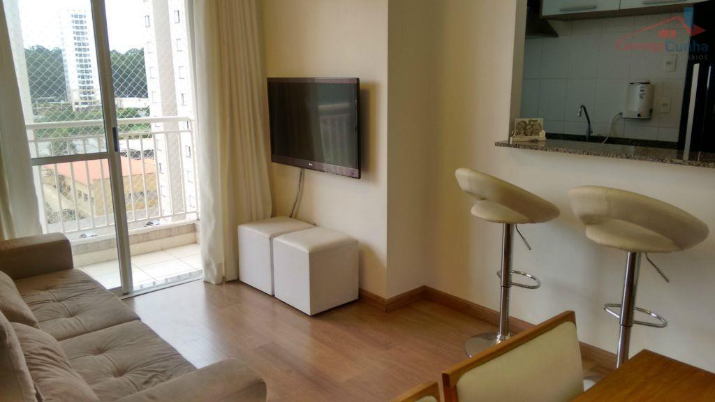 Apartamento lindo com 65 metros, 02 dormitórios sendo 01 suíte, 01 vaga de garagem.
