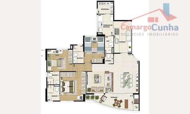 belíssimo apartamento com 110 metros no ed. winner family club, (próximo da av. roberto marinho e...