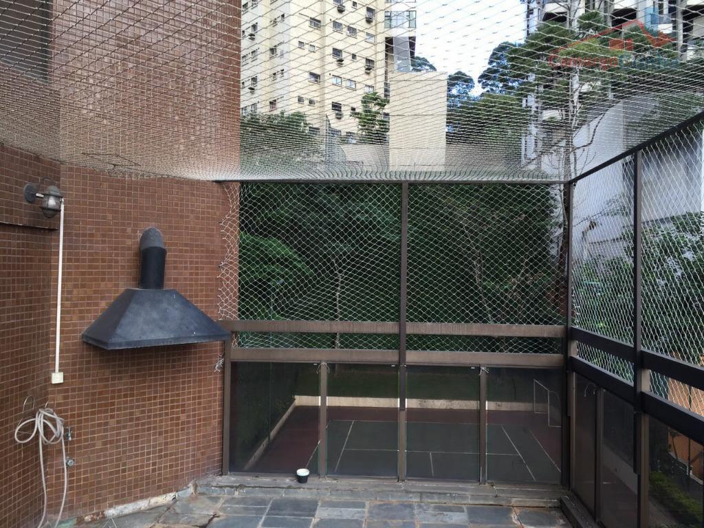 apartamento duplex com 280 m², quatro suítes e 05 vagas de garagem, sala com dois ambientes,...