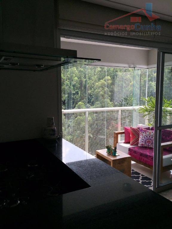 apartamento com 85 m², 02 suítes e 01 vaga de garagem, sala com dois ambientes, lavabo,...