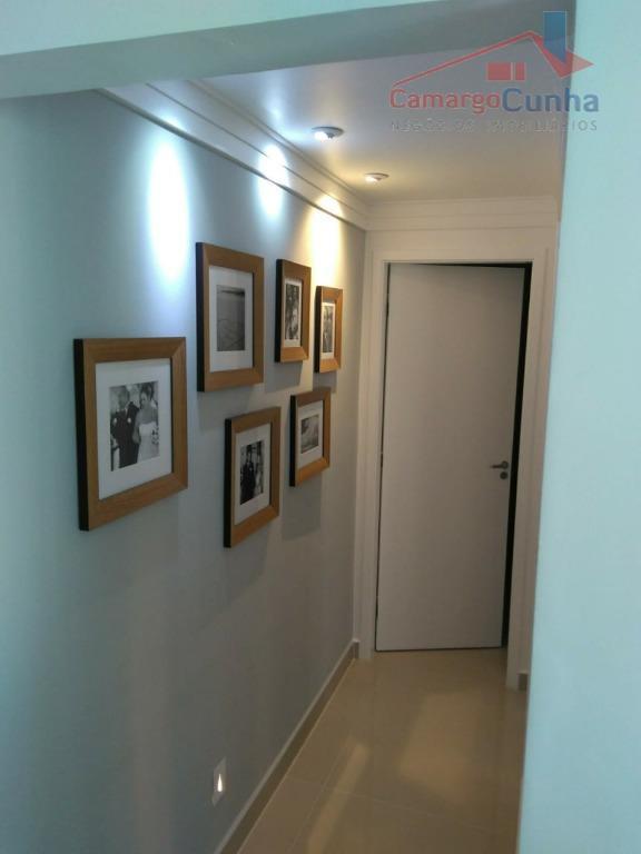 apartamento com 79 m², 02 suítes e 02 vagas de garagem, sala com dois ambientes, lavabo,...