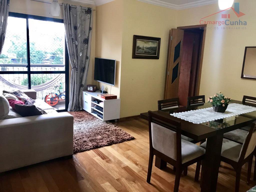 Apartamento com 75 metros, 03 dormitórios sendo 01 suíte 01 vaga.