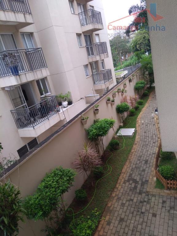 Apartamento com 49 metros, 2 dormitórios e 1 vaga