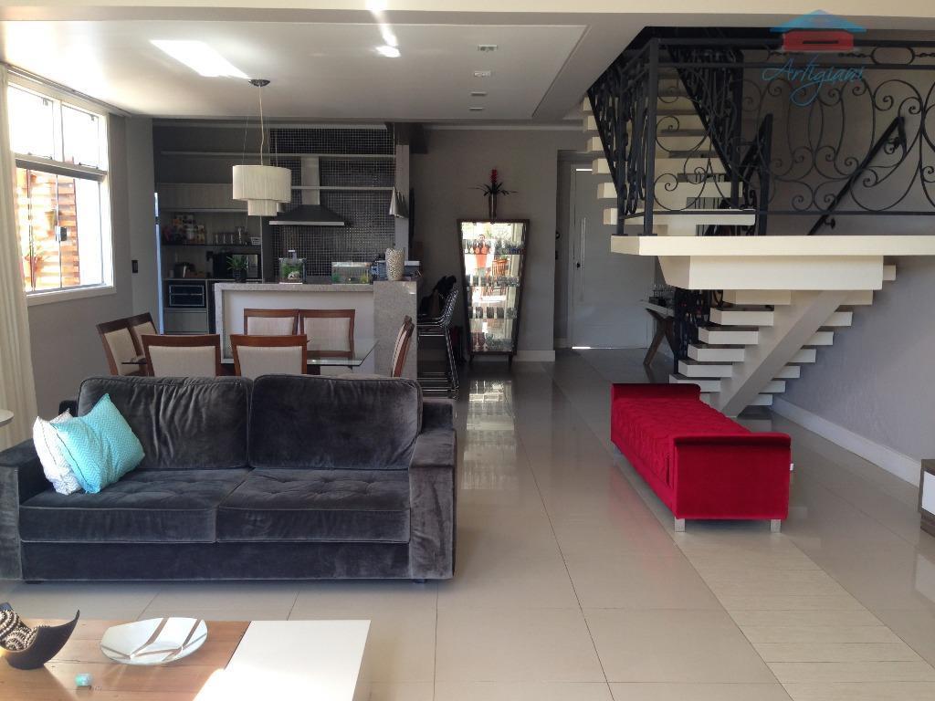 Sobrado residencial à venda, Santa Cruz, Mogi Mirim.