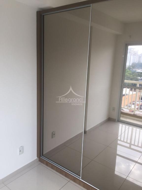 lindo apartamento de 33 metros,sala com rack,cozinha,com armários embutidos e geladeira,banheiro com armários,varanda no quarto e...