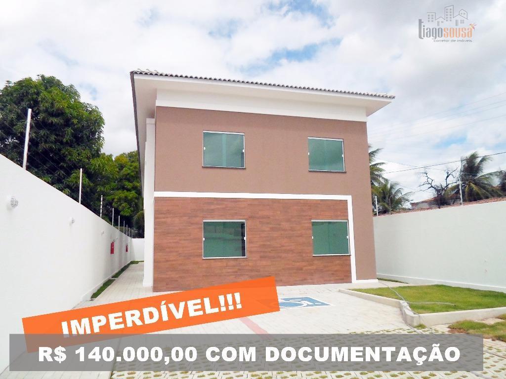 Apartamento residencial à venda, Parque Guadalajara (Jurema), Caucaia - AP0001.