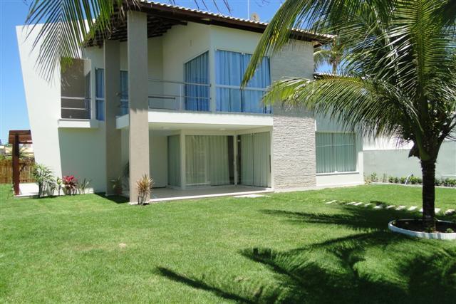 Guarajuba - Casa Vista mar com 4/4 suites com ar split - Piscina e Quiosque com Churrasqueira a 50 metros do mar