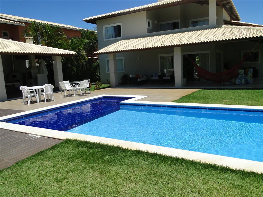 Casa Ampla na Praia de guarajuba - Alto padrão - 5/4 suites com ar - Piscina e espaço gourmet - 02 Lotes