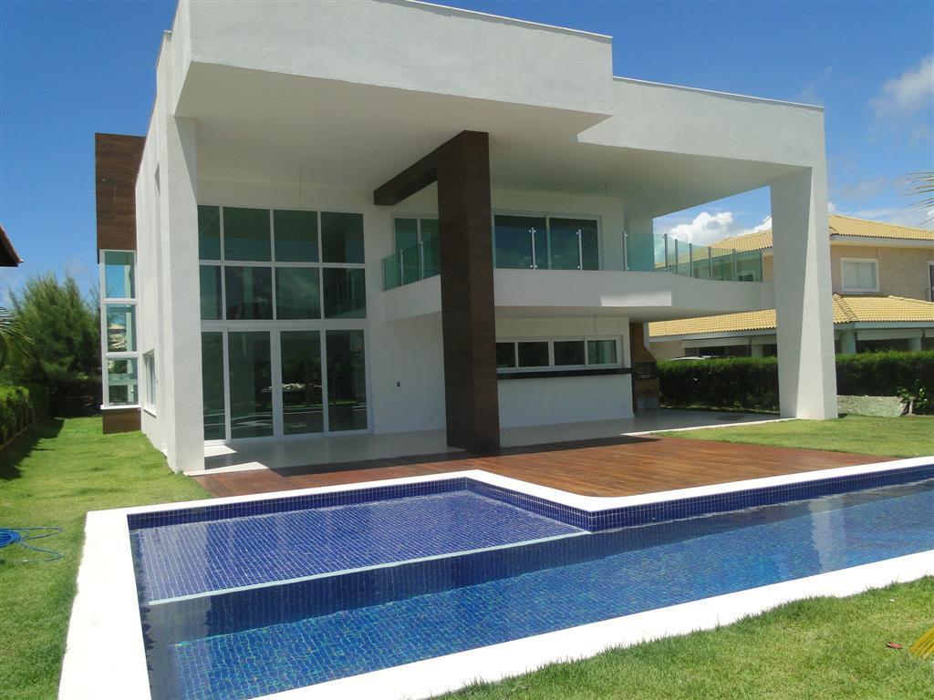 Guarajuba - Casa Nova - Alto padrão com Vista mar - 4/4 suites com ponto p/ ar split - Piscina e Churrasqueira a 60 metros do ma