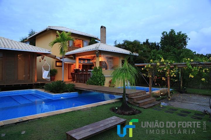 Casa residencial à venda, Condomínio Quintas das Lagoas, Camaçari - CA0039.