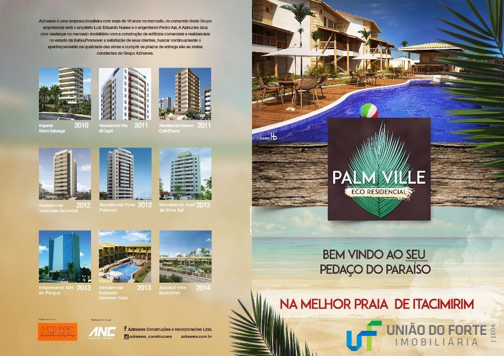 lançamento exclusivo em itacimirim, bahia. o palm ville itacimirim é um empreendimento de 2 e 4...