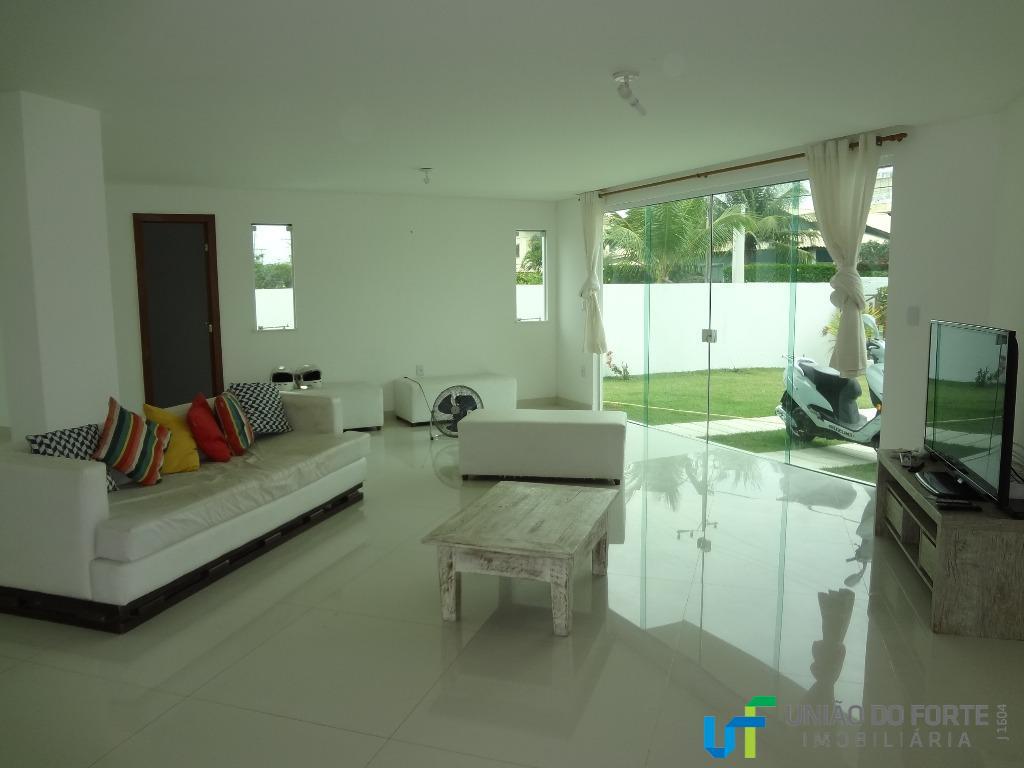 guarajuba, paraíso dos lagos.casa nova duplex, com 01 quarto e 01 suíte no pavimento térreo e...